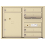 5 Tenant Doors with 1 Parcel Lockers and Outgoing Mail Compartment - 4C Recessed Mount versatile™ - Model 4C06D-05