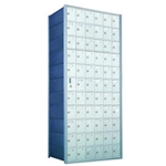 11 Doors High x 6 Doors Wide - Custom 1600 Series Front Loading, Recess-Mounted Private Delivery Mailboxes - Model 1600116-SP