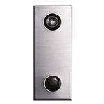Mechanical Door Chime - Anodized Aluminum - with Lens and Viewer Option - Model 685101-01