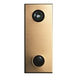 Mechanical Door Chime - Anodized Gold - with Lens and Viewer Option - Model 685102-01
