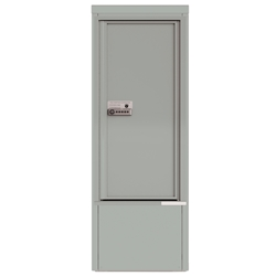 Package Protector™ PORT for Single Family Homes - Carrier Neutral Package Delivery Box with Pedestal - In Silver Speck Color