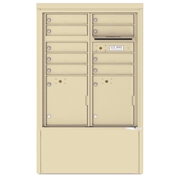 9 Tenant Doors with 2 Parcel Lockers and Outgoing Mail Compartment - 4C Depot versatile™ - Model 4CADD-09-D
