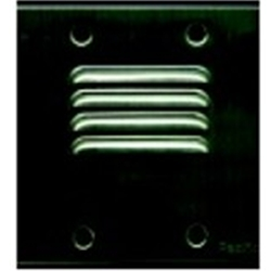 SS45451P 1 button stainless steel lobby panel