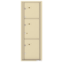 4C Horizontal mailbox 3 Parcel Lockers