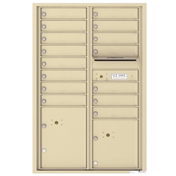 4C Horizontal mailbox 15 Compartment