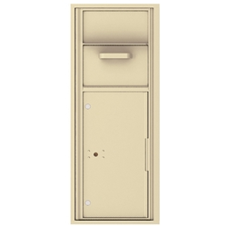 Collection / Drop Box Unit with Pull Down Hopper for Mail Collection - 4C Recessed Mount versatile™ - Model 4C12S-HOP