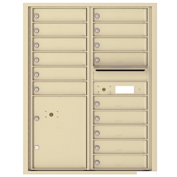 15 Tenant Doors with 1 Parcel Locker and Outgoing Mail Compartment - 4C Recessed Mount versatile™ - Model 4C11D-15