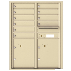 10 Tenant Doors with 2 Parcel Locker and Outgoing Mail Compartment - 4C Recessed Mount versatile™ - Model 4C11D-10