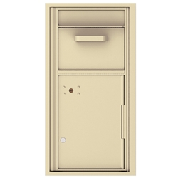 Collection / Drop Box Unit with Pull Down Hopper for Mail Collection - 4C Recessed Mount versatile™ - Model 4C09S-HOP