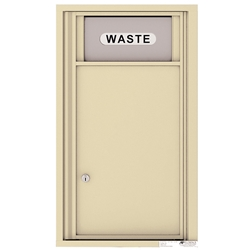 Trash/Recycling Bin with 1 Collection Area - 4C Recessed Mount versatile™ - Model 4C09S-Bin