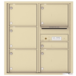 6 Tenant Doors with Outgoing Mail Compartment - 4C Recessed Mount versatile™ - Model 4C09D-06