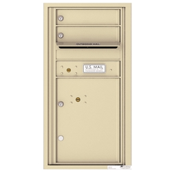 2 Tenant Doors with 1 Parcel Locker and Outgoing Mail Compartment - 4C Recessed Mount versatile™ - Model 4C09S-02