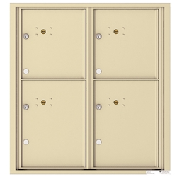 4 Parcel Doors / Parcel Lockers - 4C Recessed Mount versatile™ - Model 4C09D-4P