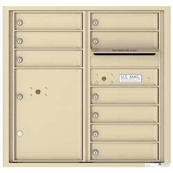 9 Tenant Doors with 1 Parcel Locker and Outgoing Mail Compartment - 4C Recessed Mount versatile™ - Model 4C08D-09