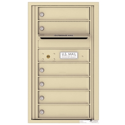 6 Tenant Doors with Outgoing Mail Compartment - 4C Recessed Mount versatile™ - Model 4C08S-06