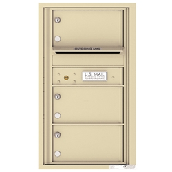 3 Tenant Doors with Outgoing Mail Compartment - 4C Recessed Mount versatile™ - Model 4C08S-03