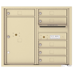 6 Tenant Doors with 1 Parcel Locker and Outgoing Mail Compartment - 4C Recessed Mount versatile™ - Model 4C07D-06