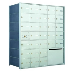30 Tenant Doors with 1 Master Door and 1 Outgoing Mail Compartment - 1400 Series USPS 4B+ Approved Horizontal Replacement Mailbox - Model 140075OUA