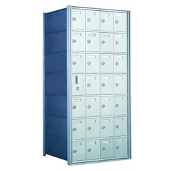 7 Doors High x 4 Doors Wide - Custom 1600 Series Front Loading, Recess-Mounted Private Delivery Mailboxes - Model 160074-SP