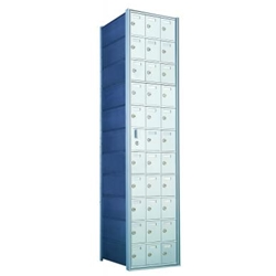 11 Doors High x 3 Doors Wide - Custom 1600 Series Front Loading, Recess-Mounted Private Delivery Mailboxes - Model 1600113-SP