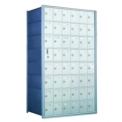 8 Doors High x 6 Doors Wide - Custom 1600 Series Front Loading, Recess-Mounted Private Delivery Mailboxes - Model 160086-SP