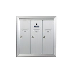 Three Compartment - 1200 Series Vertical Recessed Mount USPS Replacement Approved - Apartment Style Mailboxes - Model 12503HA