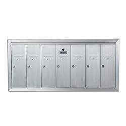 Seven Compartment - 1200 Series Vertical Recessed Mount USPS Replacement Approved - Apartment Style Mailboxes - Model 12507HA