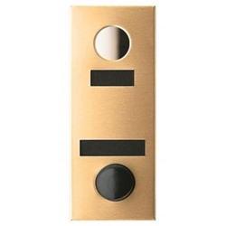 Mechanical Door Chime - Anodized Gold - with Name and Number Slots - Model 684102-02