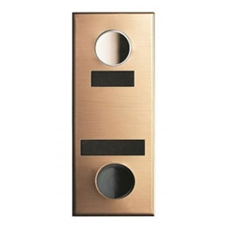 Mechanical Door Chime - Bronze - with Name and Number Slots - Model 684104-02