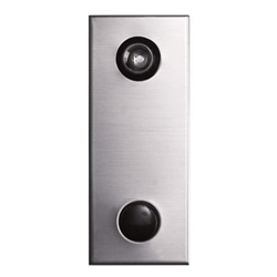 Mechanical Door Chime - Anodized Aluminum - with Wide Angle Viewer or Optional UL (Fire Rated) Viewer - Model 685101-02
