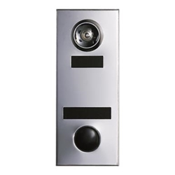 Mechanical Door Chime - Anodized Aluminum - with Wide Angle Viewer or Optional UL (Fire Rated) Viewer, Name and Number Slots - Model 686101-02