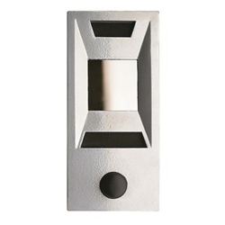 Mechanical Door Chime - Silver Powder Coat - with Viewing Mirror, Name and Number Slots - Model 689105-02